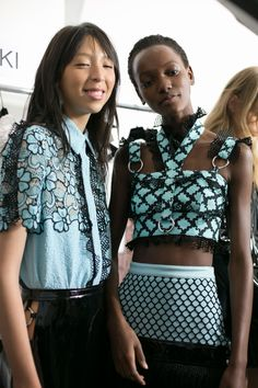 126 backstage photos of Emanuel Ungaro Bks Bis at Paris Fashion Week Spring 2016.