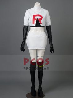 Pocket Monster / Pokemon Team Rocket Jessie Cosplay Costume mp002221