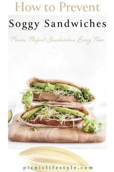 Don't let your next picnic or lunch date be ruined with soggy sandwiches. We've got simple tips to stop your sandwiches from going soggy so you will have picnic perfect sandwiches every time. Best Lunch Recipes, Easy Sandwich Recipes, Sandwich Ideas, Burger Recipes, Delicious Recipes, Yummy Food, Healthy Recipes, Recipe Inspiration, Recipe Ideas