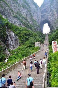 """Tianmen """"Heavenly Gate"""" in Zhangjiajie"""