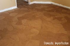 DIY podlaha vyrobena z papierovych sackov 2