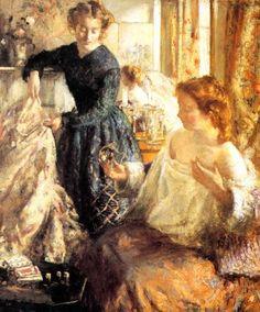 Henry Tonks (British, 1862 - 1937) 'The Crystal Gazers'