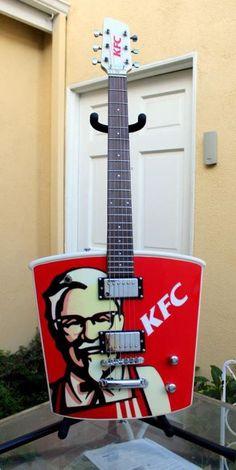 #KFC #guitar ...thanks to @novocain! Where can I get one? I wonder if Buckethead has this?? hmmm..