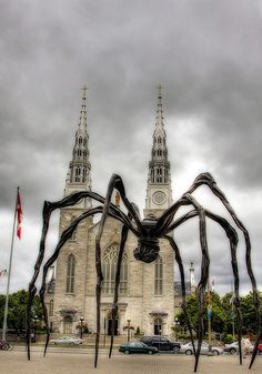 Louise Bourgeois - The Spider. This giant statue is a sight to behold in the midst of Ottawa. Ottawa Canada, Ottawa Ontario, O Canada, Canada Trip, Alberta Canada, Louise Bourgeois, Quebec Montreal, Quebec City, Canadian Travel