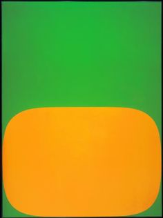 Ellsworth Kelly, Orange Green, 1966    Hard-edge abstraction.    Inspired by jean arp.  He loved collage.