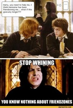 Dear people in the 'friendzone' you know nothing! - Severus Snape