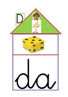 Aquí os dejo las casitas del doctor d, que son muy útiles para trabajar el vocabulario de la letra d.