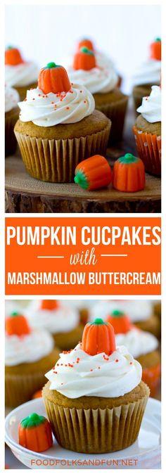 These pumpkin cupcak