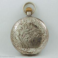 Omega Art Nouveau hunting cased Pocket Watch