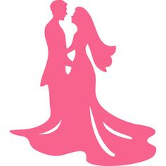 Silhouette Design Store: bride and groom wedding