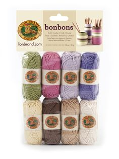 BONBONS- NATURE - Indulge in color with Bonbons, our collections of 8 miniature balls of yarn. Each collection includes 8 shades, perfect for any project requiring multiple colors, such as amigurumi, colorwork, embroidery, and embellishments. Bonbons are also great for friendship bracelets and kids' crafts.