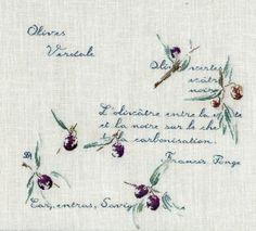 Olives de janvier: embroidery http://www.archive-host2.com/membres/images/1336321151/fruits/olives/ol2/ol2_2-fin.jpg