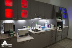 Modern Sterilization Center. Dental Office Design by Arminco Inc.