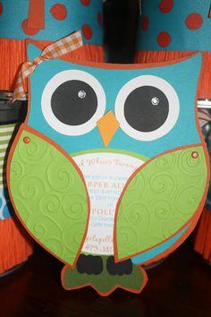 Owl party invitation