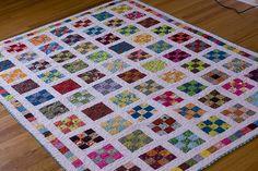 Nine Patch a Day Quilt   favorite quilts   Pinterest