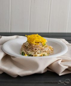 Zucchini Mandel Pasta