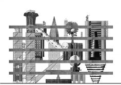 Andrew Kovacs, Archive of Affinities, Elevation For A Building In The Form Of A Cabinet Of Curiosities