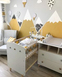 Boy Toddler Bedroom, Toddler Rooms, Baby Bedroom, Baby Boy Rooms, Baby Room Decor, Kids Bedroom, Kids Room Wall Decals, Baby Room Design, Black Mountain