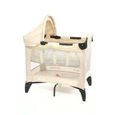 This is the small size we had, great for travel and selma slept in this in our room for a while.  This is available at a store in London I believe. Graco Mother and Baby Travel Cots 1809247 - BHS Direct