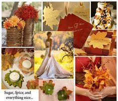 Orange and Red Fall Wedding Inspiration Board - so fall!!