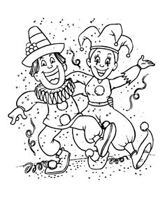 Ausmalbilder Karneval ausmalen Kinder Zug #children #print #carnival