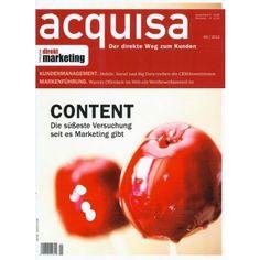 ACQUISA 9/2013 - Content is the King Zum Webshop (versandkostenfrei) durch Klick auf das Cover!