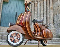 Wooden Vespa Carlos Alberto
