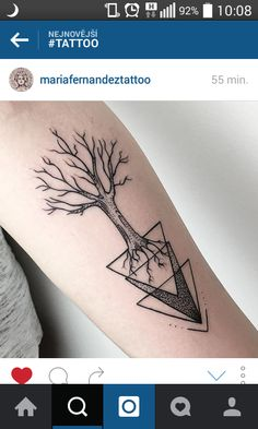 Tree geometric tattoo