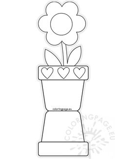 Mothers Day Card Template Fresh Flower Pot Shaped Card Template Mother S Day Mothers Day Flower Pot, Mothers Day Crafts For Kids, Mothers Day Coloring Cards, Mothers Day Cards, Flower Pot Crafts, Flower Pots, Mothers Day Card Template, Mother's Day Colors, Mother's Day Printables