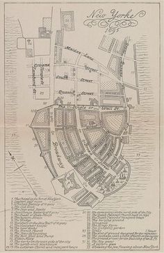 Map of New York City in 1695 #map #nyc #newyork