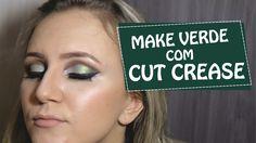 Make Verde Com Efeito Cut Crease