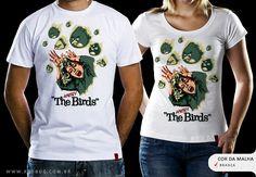 RS$49.00 Catálogo - Camiseta Os Pássaros - Camisetas Red Bug