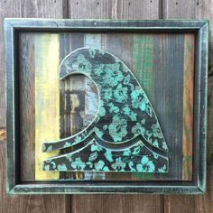 """Wave of Aloha"" Reclaimed Wood Surf Art by The Captain"