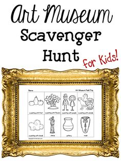 Art Museum Scavenger Hunt Going to an art museum with kids? Here's a fun and educational way for kids to explore the art museum. Print out this Art Museum Scavenger Hunt Checklist and have children bring it with them on your next trip. Attach the sheet to Museum Education, Art Education, Preschool Scavenger Hunt, Scavenger Hunts, Hunting Art, Night At The Museum, Expressions, Art Classroom, Blog