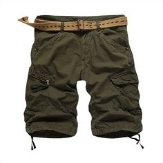 Men Casual Shorts Loose Cargo Shorts Black, Blue, Green, Khaki, Plus Size Shorts 29-40