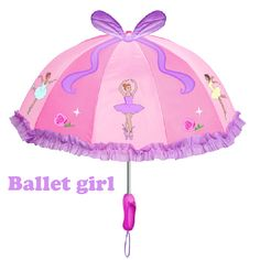 Free shipping ballet girl princess kids pink umbrella, children kid fairy cartoon umbrellas, cut crafts gift for child