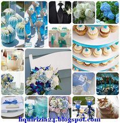 blue wedding idea