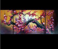 Wholesale - MODERN ABSTRACT CANVAS ART OIL PAINTING:Flower 77