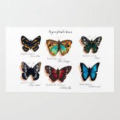 Nymphalidae butterflies Rug