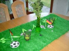 Fußball WM Tischdeko Pin Tool, Partys, Decoration Table, Holidays And Events, Buffet, Arts And Crafts, Holiday Decor, Birthday, Blog