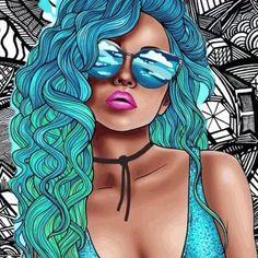 Pop Up Art, Pop Art Girl, Black Girl Art, Pop Art Drawing, Digital Art Girl, First Art, Dope Art, Cartoon Art, Lovers Art