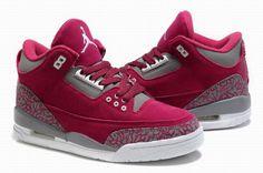 Nike Air Jordan 3 Retro Women Shoes 09 Pink Grey Only $84.99 & FREE SHIPPING - Women Jordan Shoes