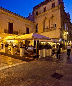 The corner cafe in a pedestrian town
