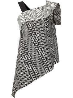 ROLAND MOURET 'Iver' Asymmetric Monochrome Top. #rolandmouret #cloth #top