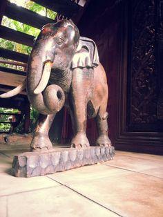 Jim Thompson Wooden Elephant  Bangkok Wooden Elephant, City Of Angels, Balinese, Bangkok, Houses, Animals, Homes, Animales, Animaux