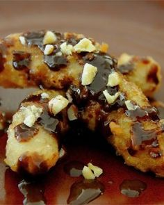 Banana Fritters with Nutella Sauce Recipe