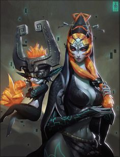 MIDNA (both forms) by Zeronis | #Zelda Twilight Princess, #ZeldaHW #HyruleWarriors