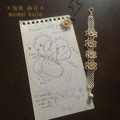 Bead, Pearl, Crochet ball ...or Tatted ball. I have never tried it, though   One for Pendant, two for Earrings, I hope you can enjoy arranging❤️ #tatting #maimaikaito #original #freepattern #bracelet #オリジナルデザイン  タティングのたまっころって、やったことないけど80番なら5㎜くらいの、できるかな?