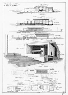 Risultati immagini per meier roma ara pacis planimetria Architecture Presentation Board, Modern Architecture Design, Architecture Board, Architecture Drawings, Amazing Architecture, Interior Architecture, Sketches Arquitectura, Planer Layout, Building Design