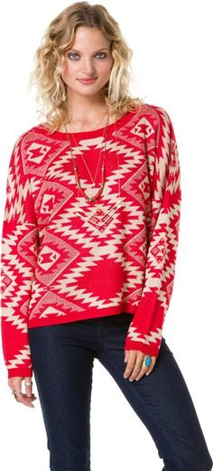 ANGIE TRIBAL SWEATER   http://www.swell.com/ANGIE-TRIBAL-SWEATER?cs=RE